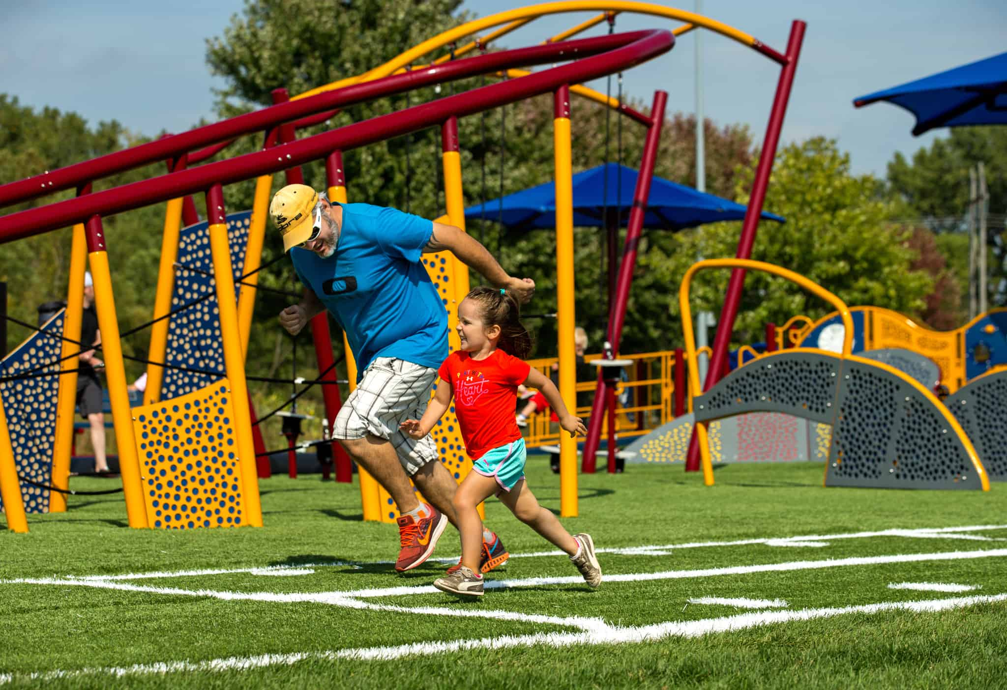 Photography of the GameTime playground in Schaper Park in Minneapolis, Minnesota.  Charlotte Photographer - PatrickSchneiderPhoto.com